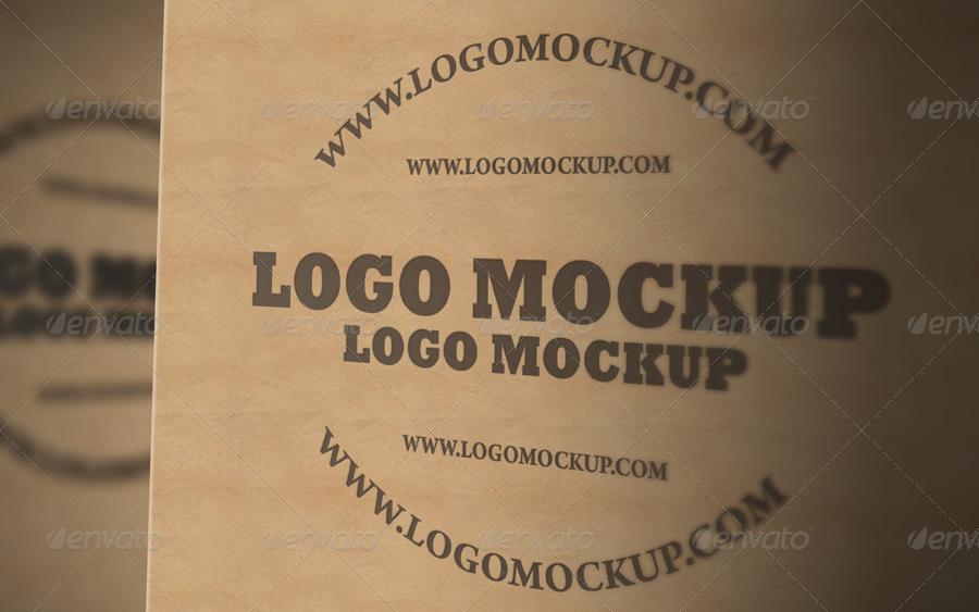 Clean PSD Logo Mockup