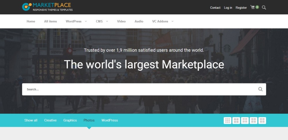 Clean WordPress Marketplace Theme