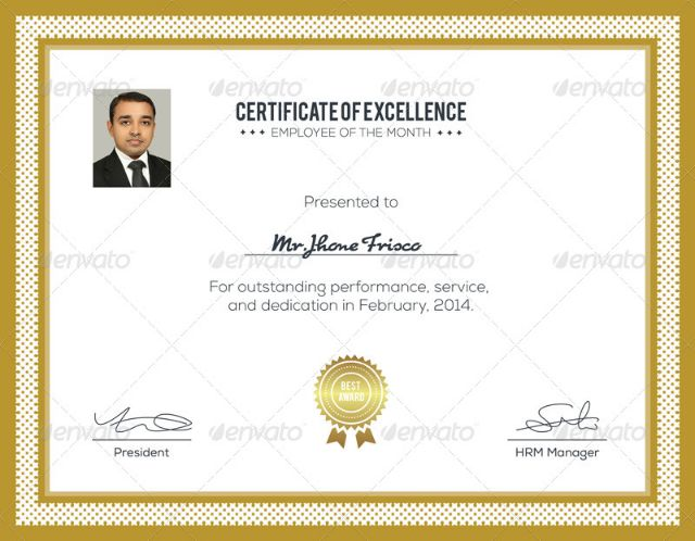 Clean and Simple Award Certificate Template