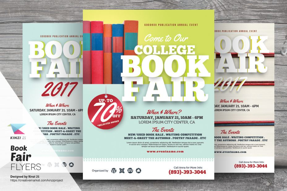 College Book Sales Flyer Template