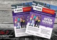 College Open House Flyer Template