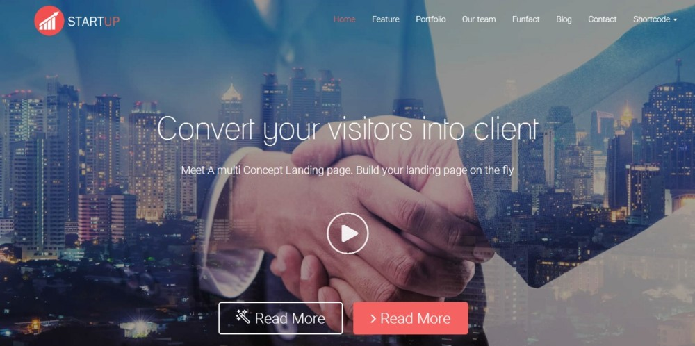 Company Landing Page WordPress Theme