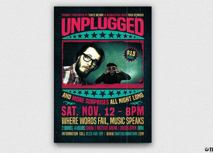 Concert Flyer Template PSD