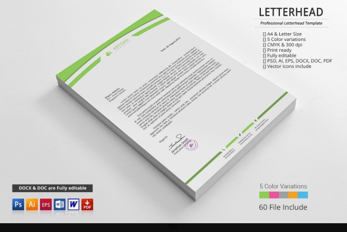 Word Business Letterhead Template from graphiccloud.net