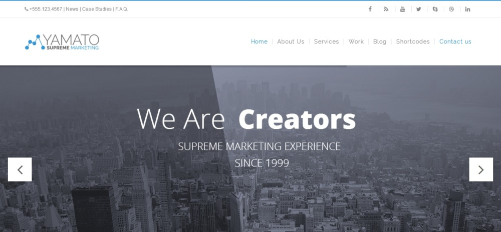 Corporate Marketing WordPress Theme