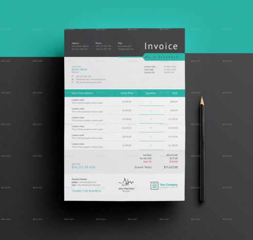 proforma invoice template word, eps and ai format - graphic cloud, Invoice examples