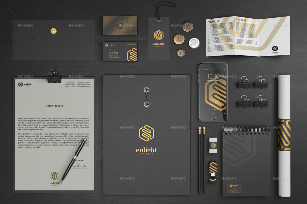 Corporate Stationary Branding Mockup
