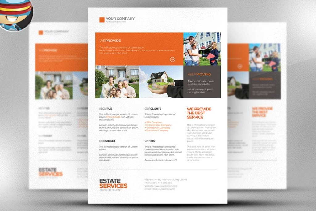 Corporate and Real Estate Flyer Template