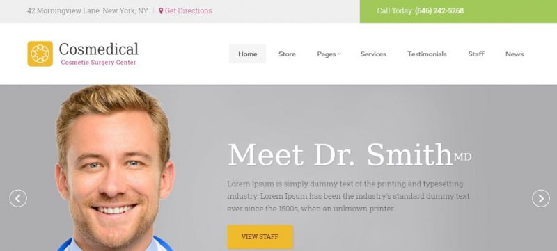 Cosmedical Medical WordPress Theme