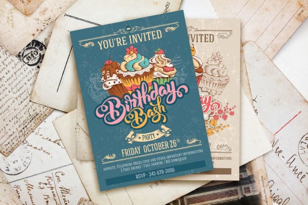 Creative Birthday Party Invitation Template