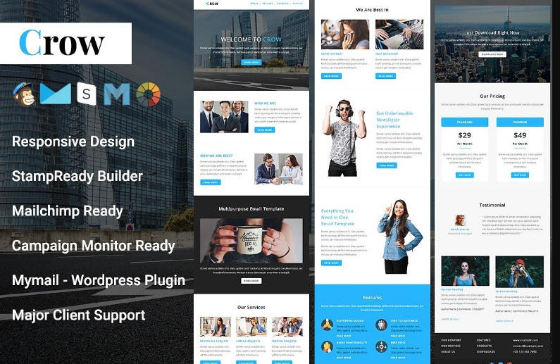 Creative Email Template PSD