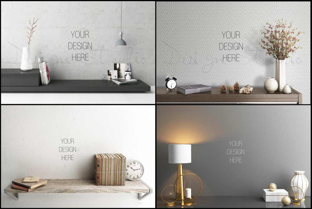 Creative Wall Art Mockup PSD