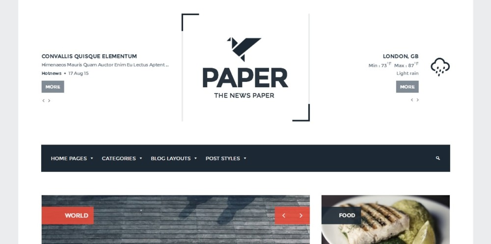 Creative WordPress Newspaper Theme
