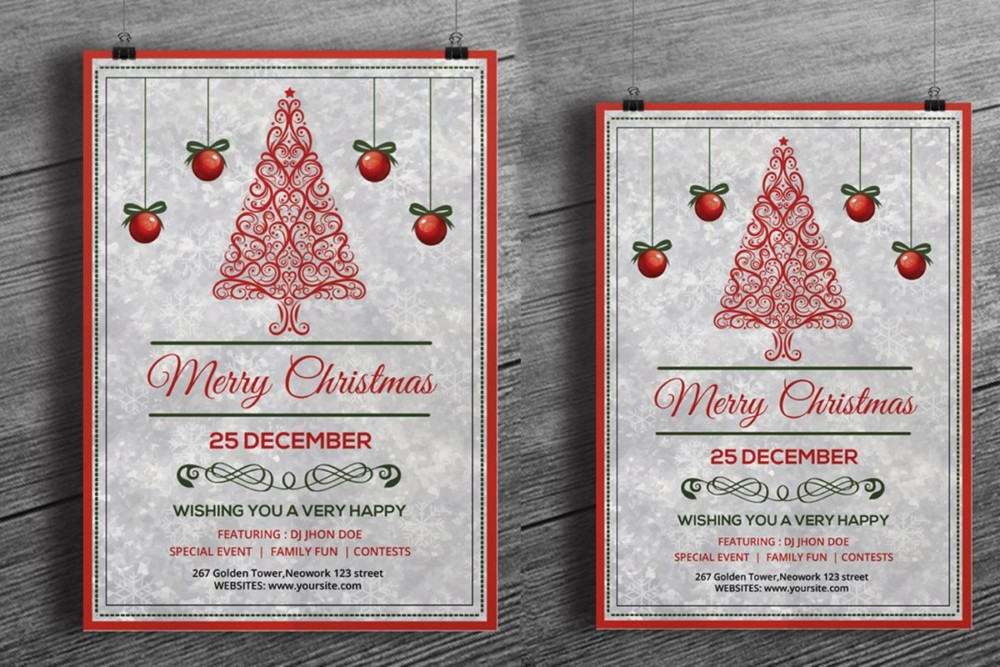 Customizable Christmas Template PSD