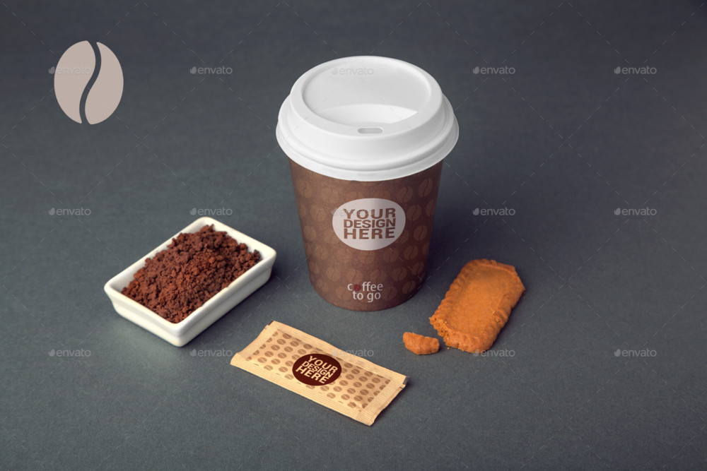 Customizable Coffee Branding Mockup PSD