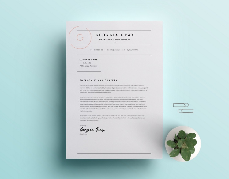 Customizable Cover Letter Template