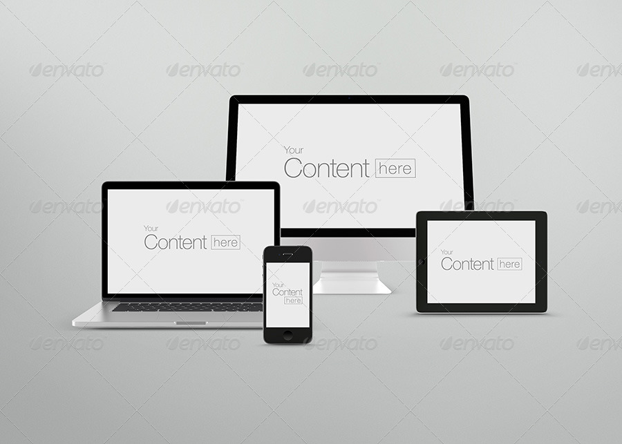 Customizable Responsive Mpckup PSD