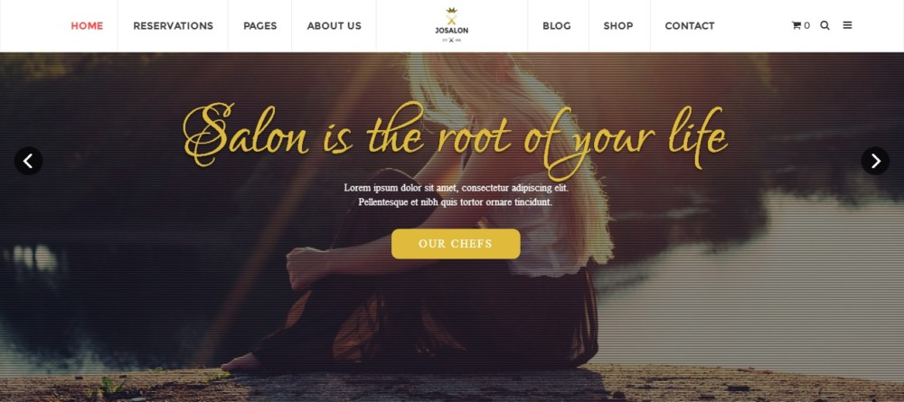 Customizable WordPress Spa and Salon Theme