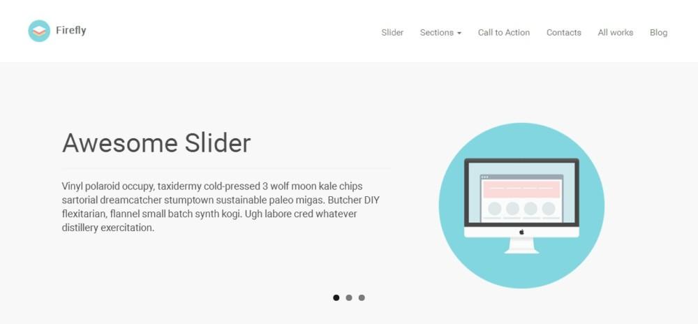Customizeable Landing Page WordPress Theme