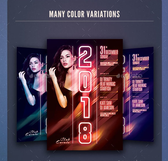 DJ New Year Flyer Template
