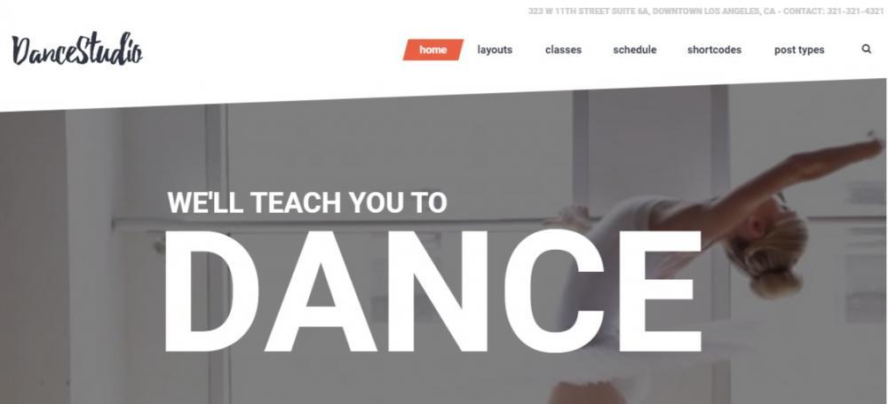 Dance Club WordPress Theme