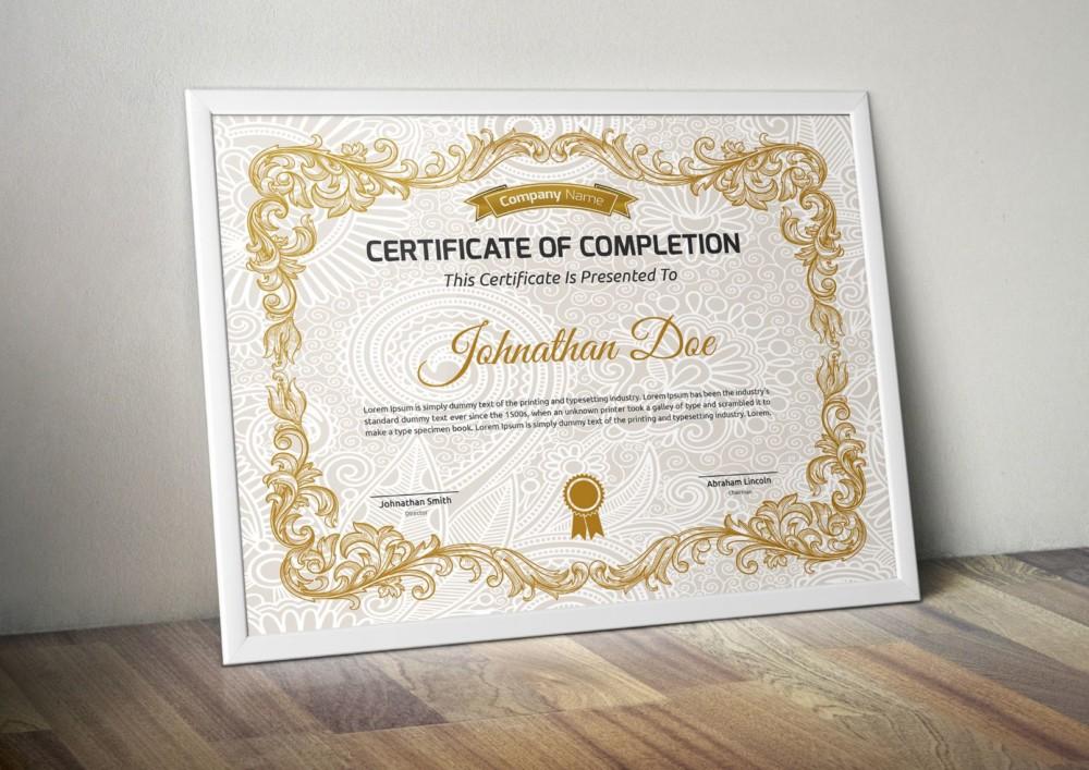 Decorative Award Certificate Template