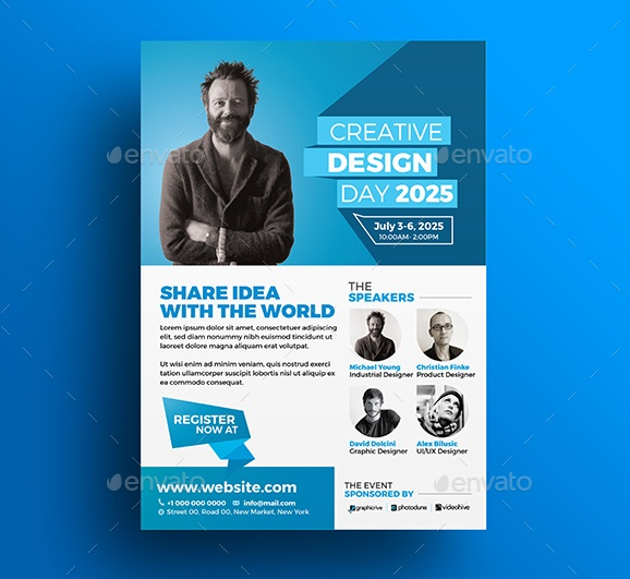 Design Conference Flyer Template PSD