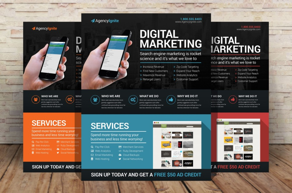 Digital Marketing Flyer Template PSD