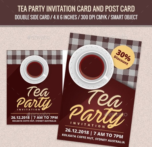 Double Sided Invite Template PSD