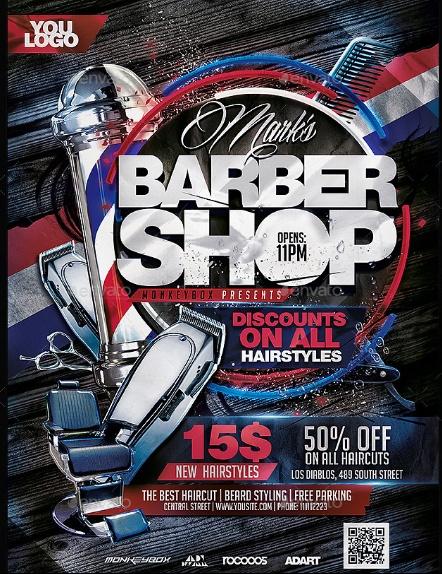 EDitable Barber Shop Flyer Template