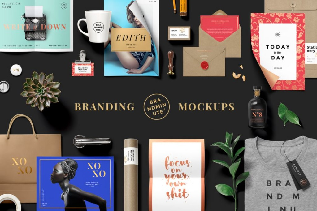 Easy Editable Branding Mockup PSD