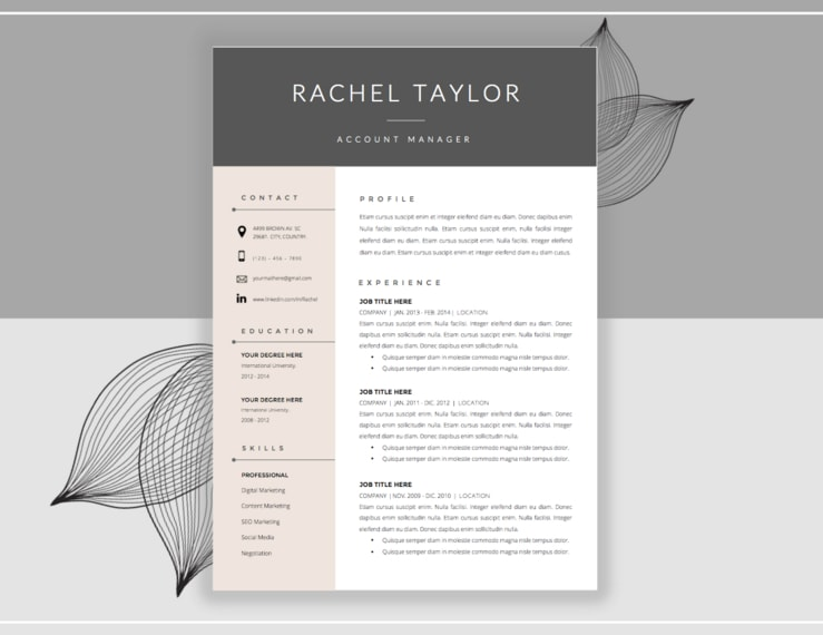 20 Resume Cover Letter Template Word EPS Ai and PSD Format – Cover Letter Template