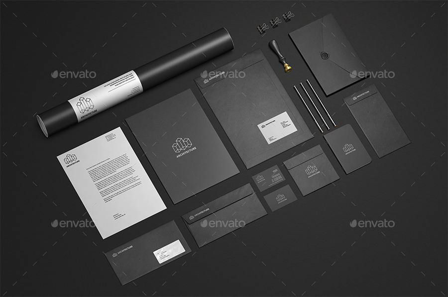 Easy Editable Stationary Mock Up