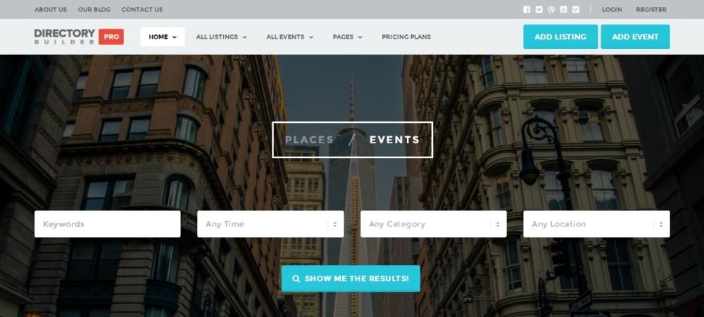 Easy Editable WordPress Directory Theme