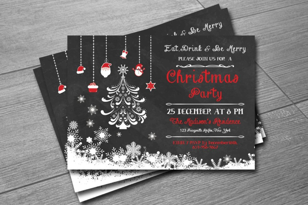 Easy and Affordable Christmas Invitation Template