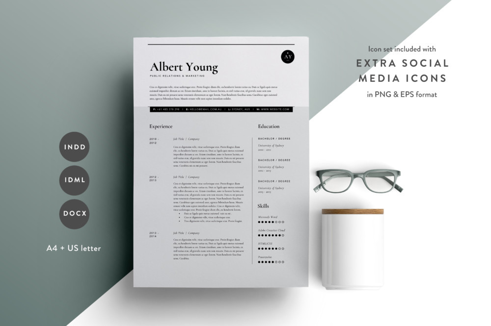 Easy to Edit Business Resume CV Template