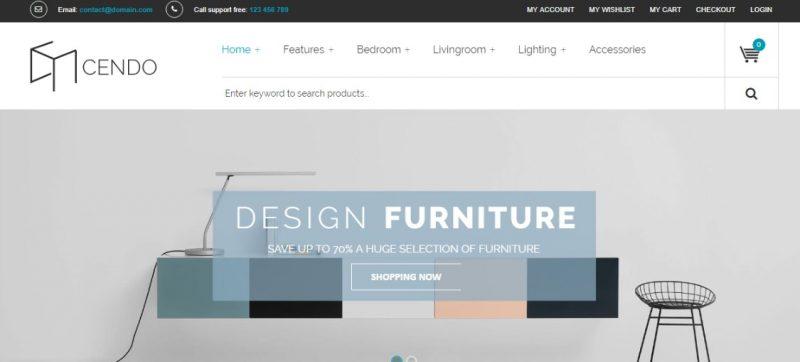 Ecommerce Ready Furniture WordPress Theme