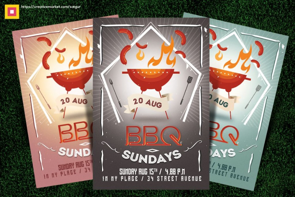 Editable BBQ Party Flyer Template