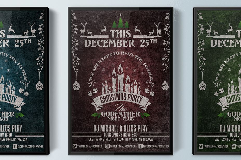 Editable Christmas Invitation Template