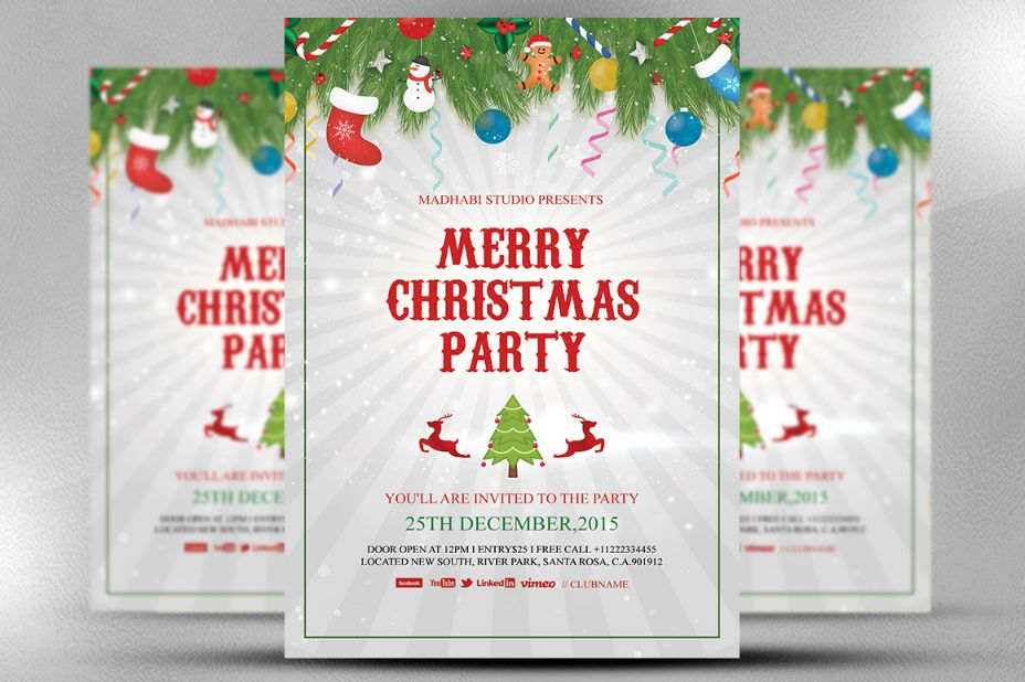 Christmas Invitation Template And Christmas Party Invitation