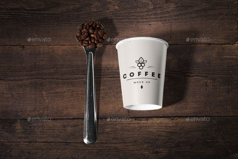 Editable Coffee Branding Mockup PSD