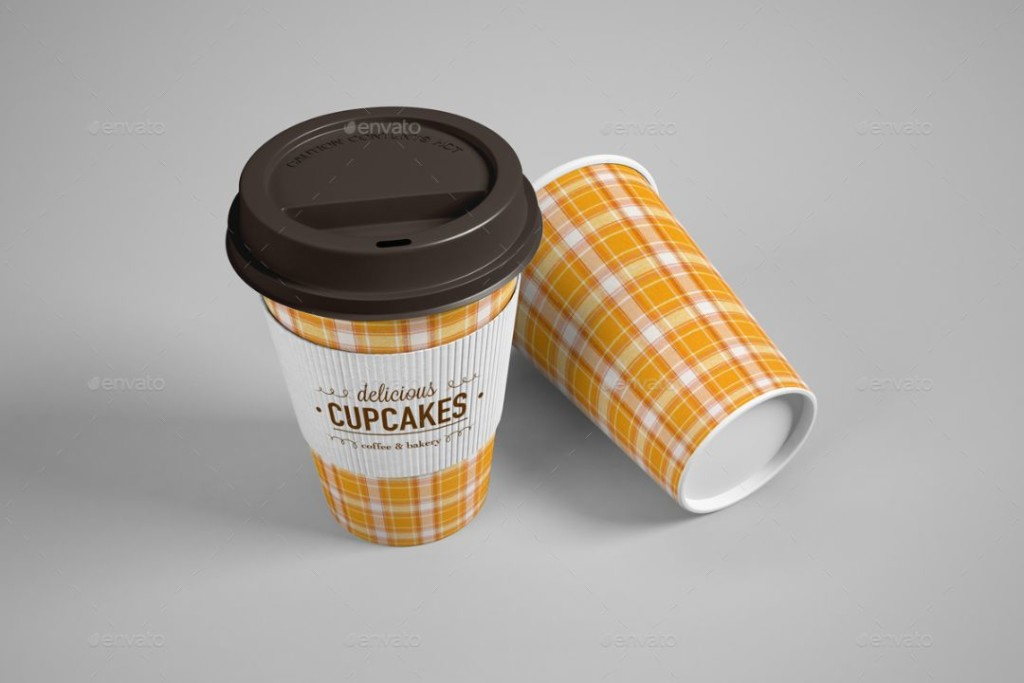 Editable Coffee Cup Mockup PSD