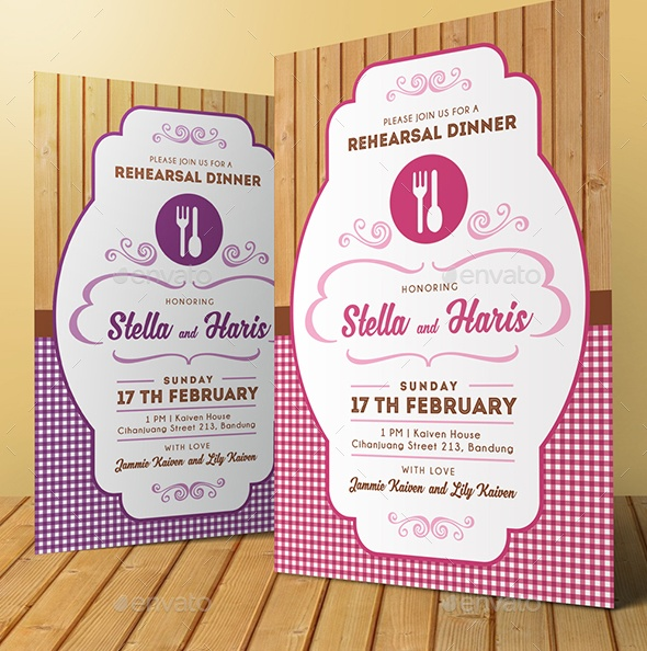 Editable Dinner Invitation Template PSD