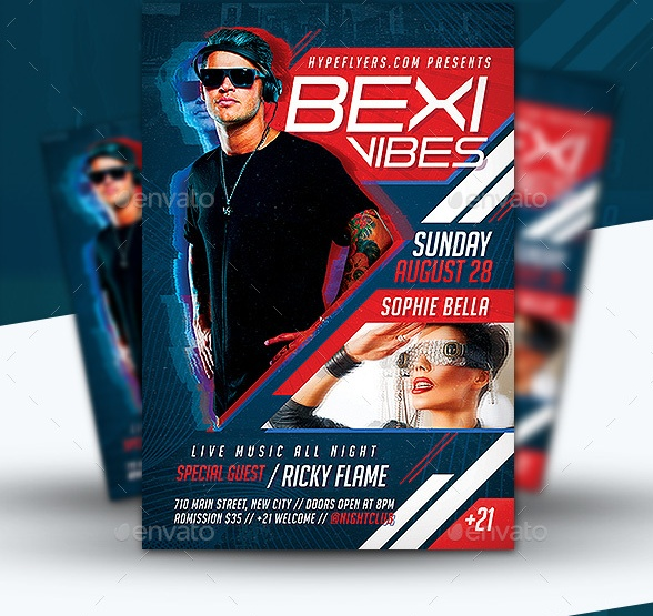 Editable Music Event Flyer Template