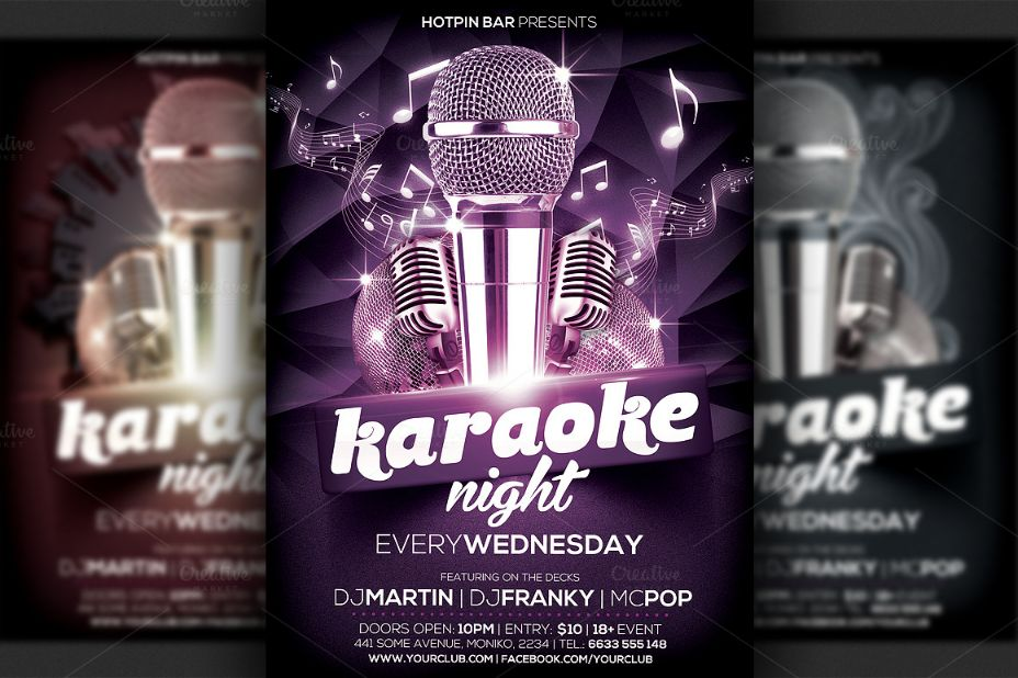 Editable Night Club Flyer Template