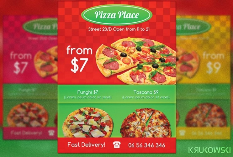 Editable Pizza Flyer Template