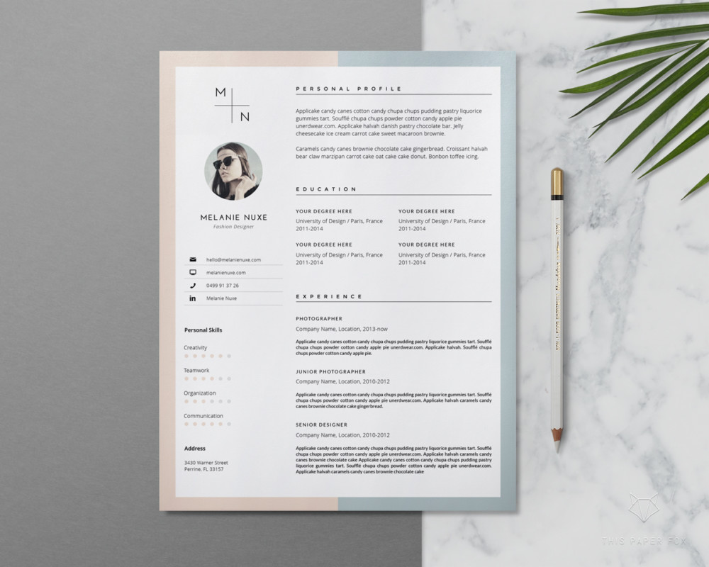 Editable Resume and Cover Letter Template