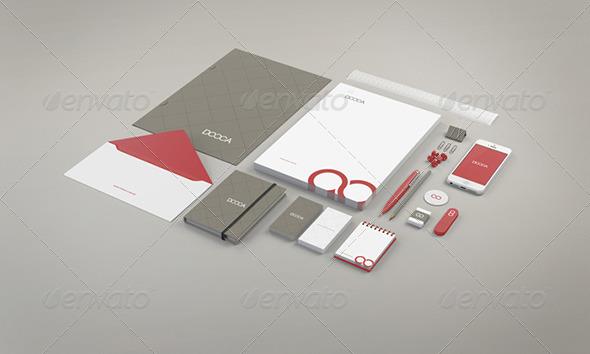 Editable Stationary Branding Mockup