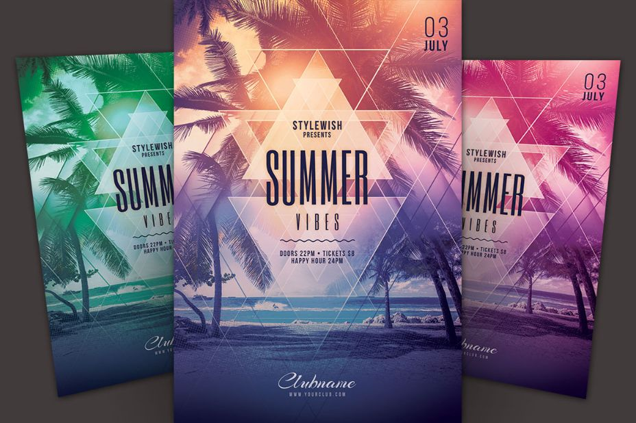 Editable Summer Vibes Flyer Template