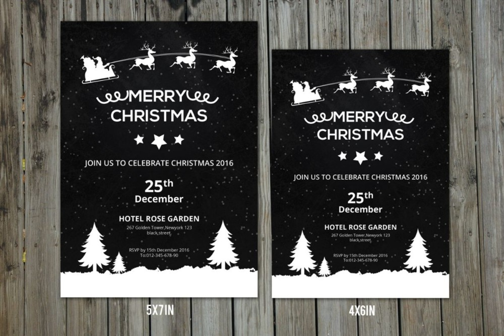 Elegant Christmas Invitation Flyer Template